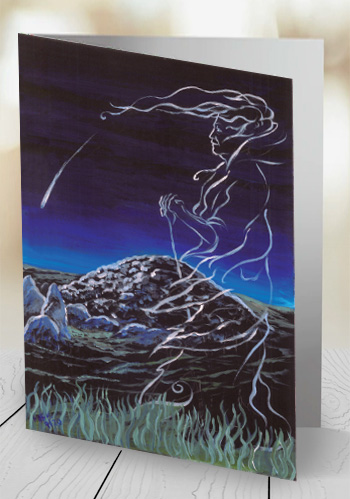 The Cailleach and the Comet - card