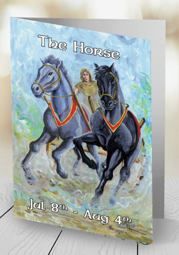 The Horse - card