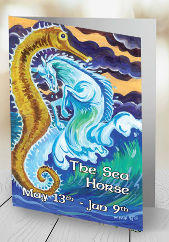 The Sea Horse - card