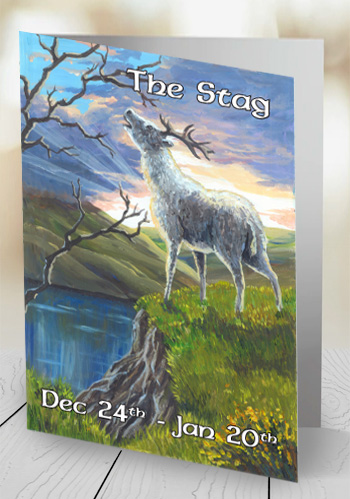 The Stag - card