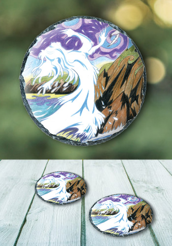 Cliodhna's Wave - slate coaster