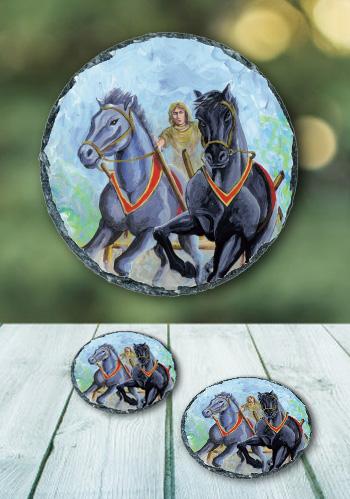 The Horse - slate coaster