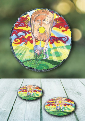 Knowth - slate coaster