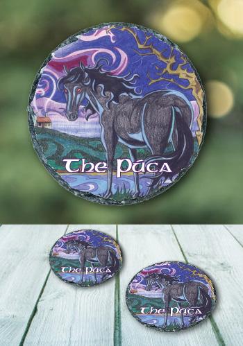 The Púca - slate coaster