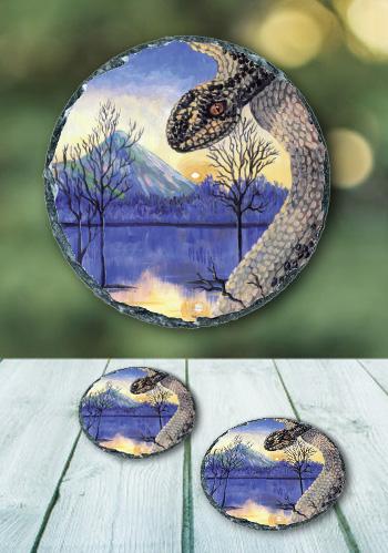 The Snake - slate coaster