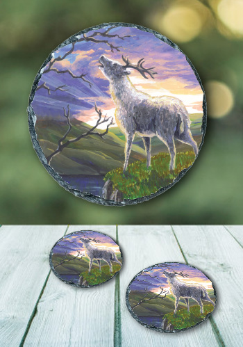 The Stag - slate coaster