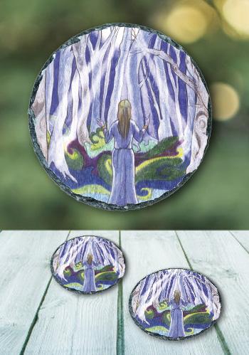 Tree Lore - slate coaster