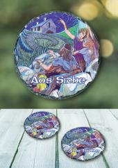 Aos Sidhe - slate coaster