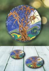 The Fairy Tree - slate coaster