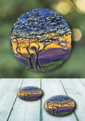 The Fairy Tree II - slate coasters