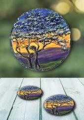 The Fairy Tree II - slate coasters