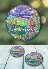 Leprechaun - slate coaster