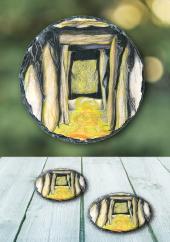 Guardians of Loughcrew - slate coaster