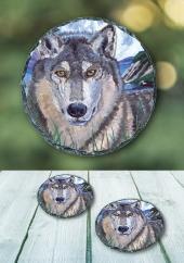 The Wolf - slate coaster