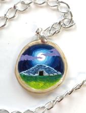 Loughcrew Cairns - decoupage pendant