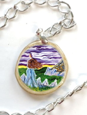 The Cailleach of the elements - decoupage pendant
