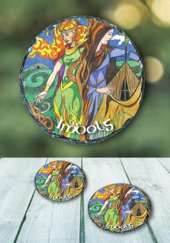 Imbolg - slate coasters