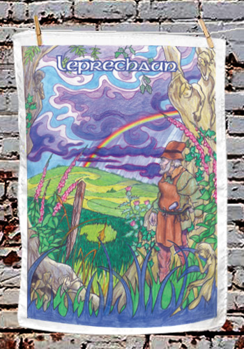 Leprechaun - tea towel