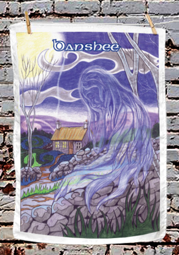 Banshee - tea towel