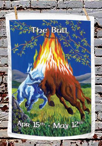 The Bull - tea towel