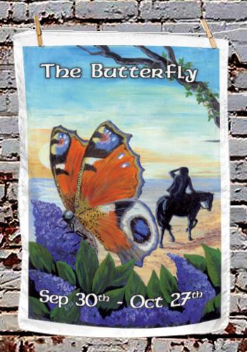 The Butterfly - tea towel