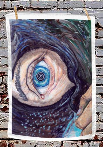 The Eye of the Cailleach - tea towel