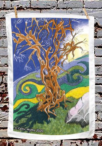 The Fairy Tree - tea towel