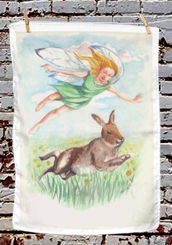 The Hare - tea towel