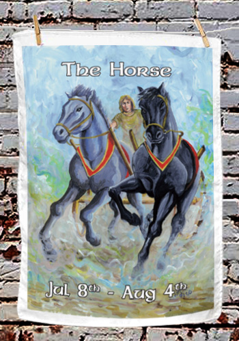 The Horse - tea towel