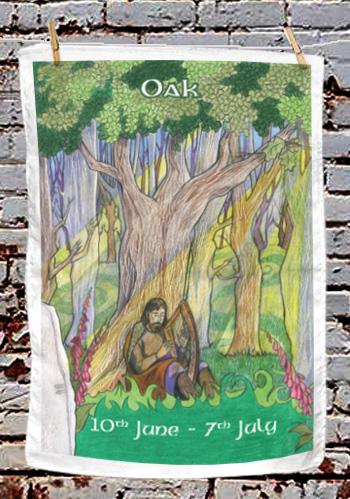 Oak - tea towel