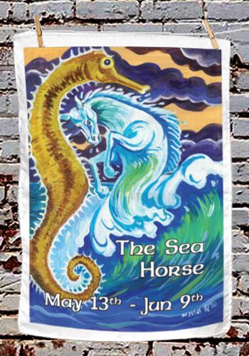 The Sea Horse - tea towel