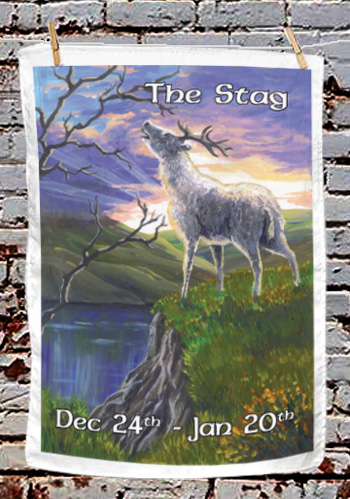 The Stag - tea towel