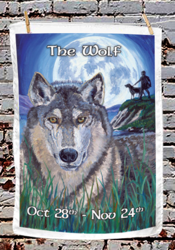 The Wolf - tea towel