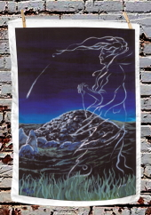 The Cailleach and the Comet - tea towel